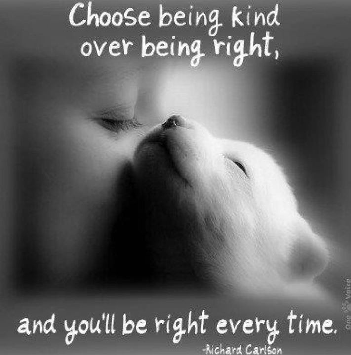 Being kind = being right…?  Voice4Change