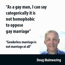 Doug Mainwaring - gay against ssm